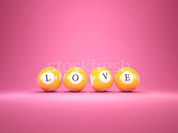 Amore lettere lotteria illustrazione 3d matrimonio Foto d'archivio © MikhailMishchenko