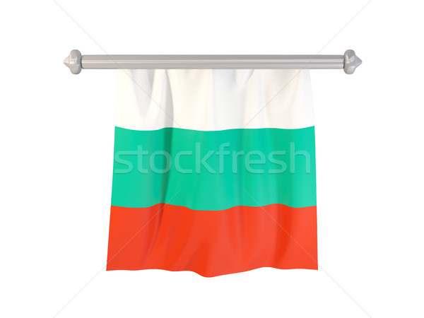 Vlag Bulgarije geïsoleerd witte 3d illustration label Stockfoto © MikhailMishchenko