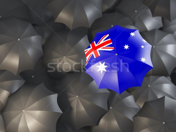 Parasol banderą Australia górę czarny parasole Zdjęcia stock © MikhailMishchenko