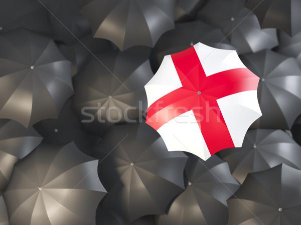傘 フラグ イングランド 先頭 黒 傘 ストックフォト © MikhailMishchenko