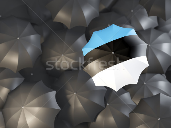 Umbrella with flag of estonia Stock photo © MikhailMishchenko