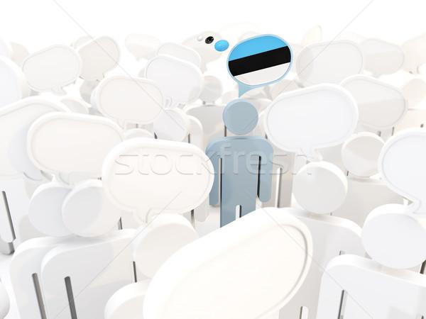 男 フラグ エストニア 群衆 3次元の図 にログイン ストックフォト © MikhailMishchenko