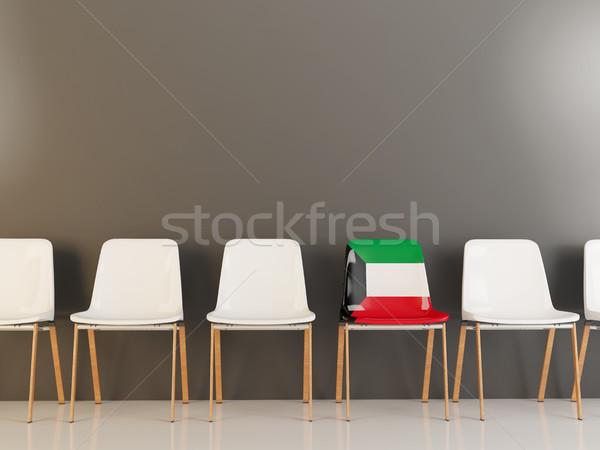 Sedia bandiera Kuwait fila bianco sedie Foto d'archivio © MikhailMishchenko