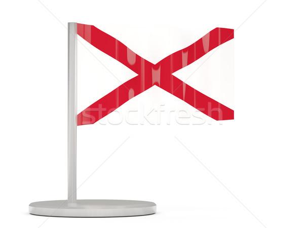 Bandiera pin Alabama Stati Uniti locale bandiere Foto d'archivio © MikhailMishchenko