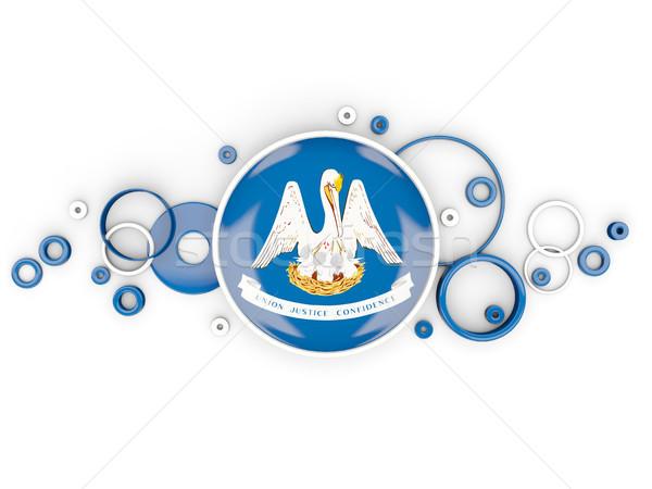Round flag of louisiana with circles pattern. United states loca Stock photo © MikhailMishchenko