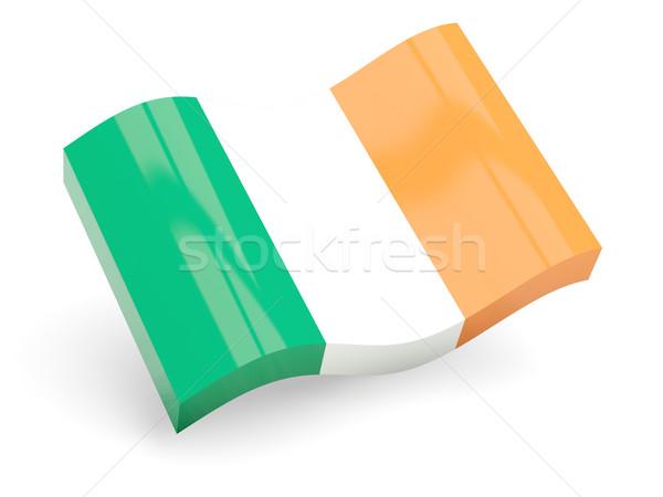 3D vlag Ierland geïsoleerd witte reizen Stockfoto © MikhailMishchenko
