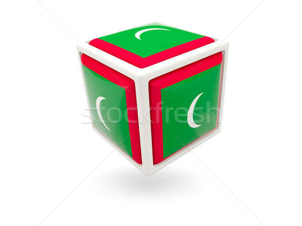 Flag of maldives. Cube icon Stock photo © MikhailMishchenko