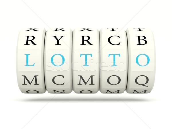 Lottó játékautomata izolált fehér levél siker Stock fotó © MikhailMishchenko