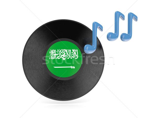 Bakelit lemez zászló Szaúd-Arábia izolált fehér Stock fotó © MikhailMishchenko