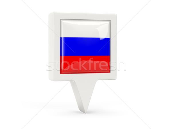 Foto stock: Cuadrados · bandera · icono · Rusia · aislado · blanco