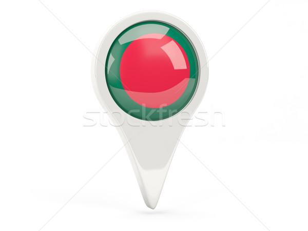 Zászló ikon Banglades izolált fehér térkép Stock fotó © MikhailMishchenko