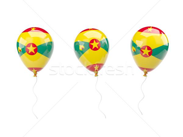 Air balloons with flag of grenada Stock photo © MikhailMishchenko