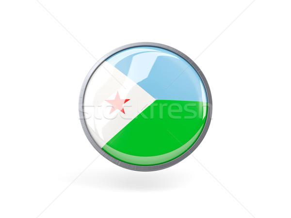 икона флаг Джибути металл кадр путешествия Сток-фото © MikhailMishchenko