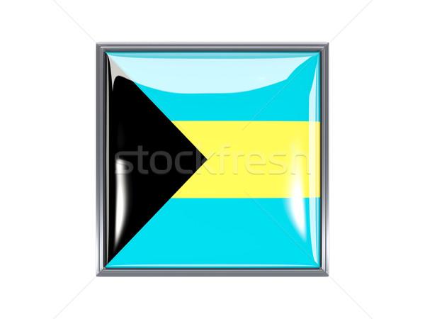 Square icon with flag of bahamas Stock photo © MikhailMishchenko