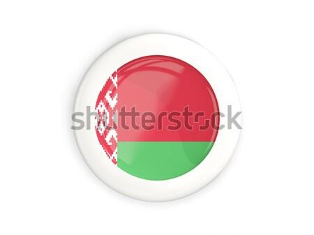 Botón bandera Bielorrusia metal marco viaje Foto stock © MikhailMishchenko
