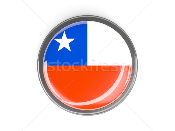 Round button with flag of chile Stock photo © MikhailMishchenko