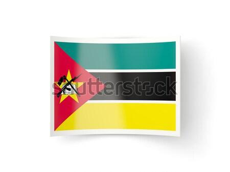 Praça ícone bandeira Moçambique metal quadro Foto stock © MikhailMishchenko