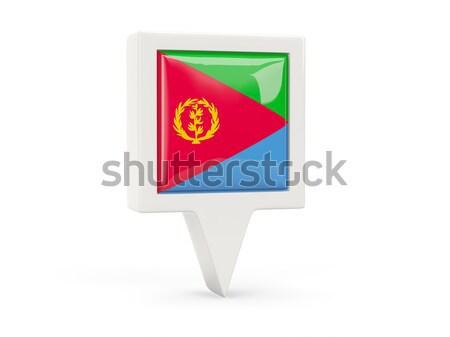 квадратный металл кнопки флаг Эритрея изолированный Сток-фото © MikhailMishchenko