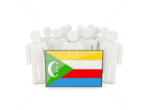 People with flag of comoros Stock photo © MikhailMishchenko