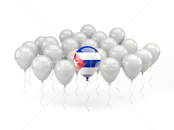 Air balloons with flag of cuba Stock photo © MikhailMishchenko