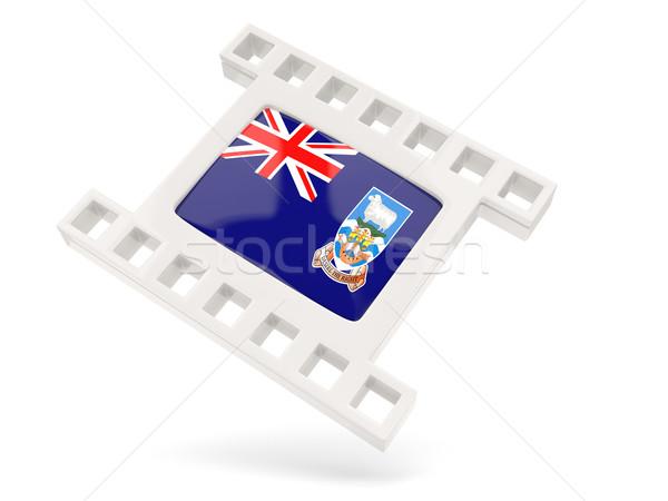Film ikon zászló Falkland-szigetek izolált fehér Stock fotó © MikhailMishchenko