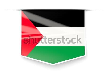 Square metal button with flag of kuwait Stock photo © MikhailMishchenko