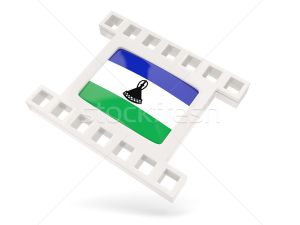Film ikona banderą Lesotho odizolowany biały Zdjęcia stock © MikhailMishchenko