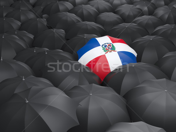 Umbrella with flag of dominican republic Stock photo © MikhailMishchenko
