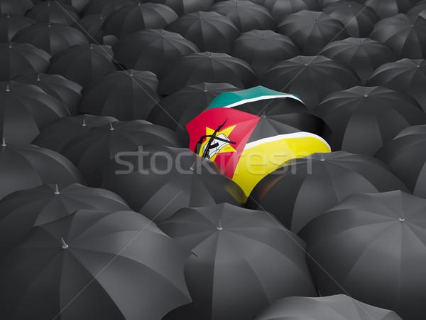 Umbrella with flag of mozambique Stock photo © MikhailMishchenko