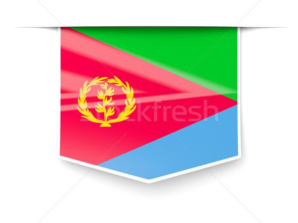 Square label with flag of eritrea Stock photo © MikhailMishchenko