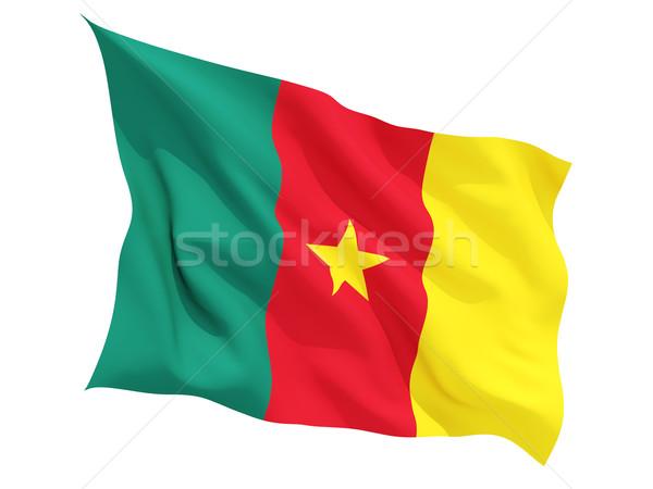 Bandeira Camarões isolado branco Foto stock © MikhailMishchenko