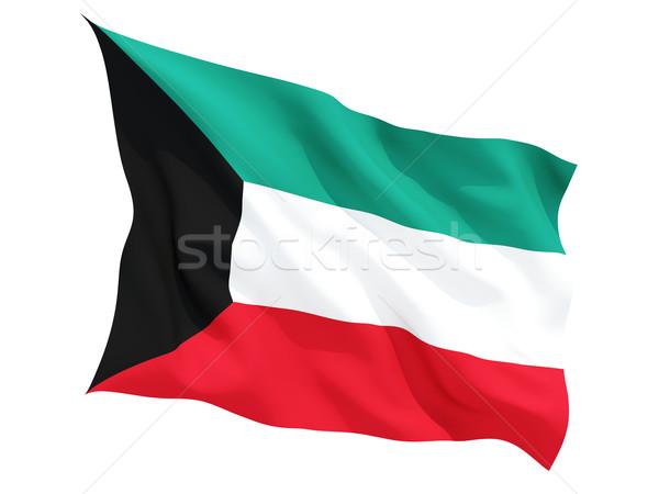 Waving flag of kuwait Stock photo © MikhailMishchenko