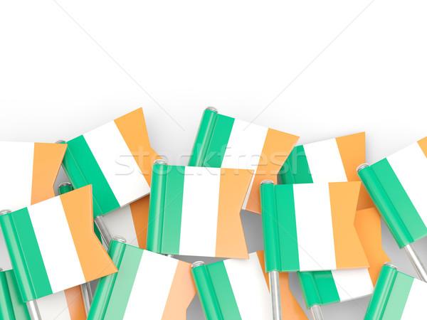 Bayrak pin İrlanda yalıtılmış beyaz arka plan Stok fotoğraf © MikhailMishchenko