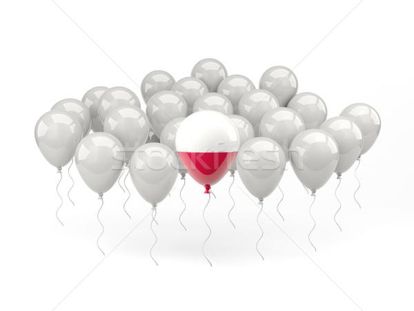 Air balloons with flag of poland Stock photo © MikhailMishchenko