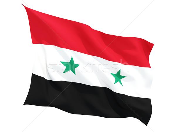 Vlag Syrië geïsoleerd witte Stockfoto © MikhailMishchenko