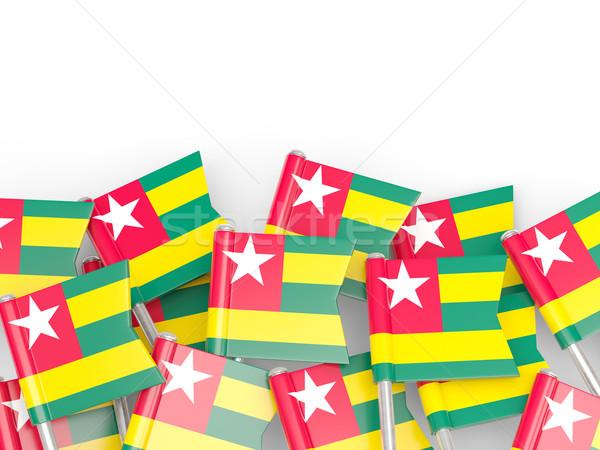 Bandiera pin Togo isolato bianco mondo Foto d'archivio © MikhailMishchenko
