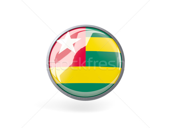 Icona bandiera Togo metal frame viaggio Foto d'archivio © MikhailMishchenko