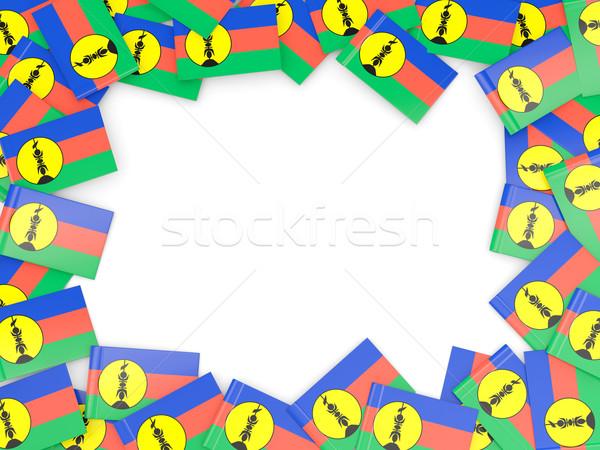 Frame with flag of new caledonia Stock photo © MikhailMishchenko