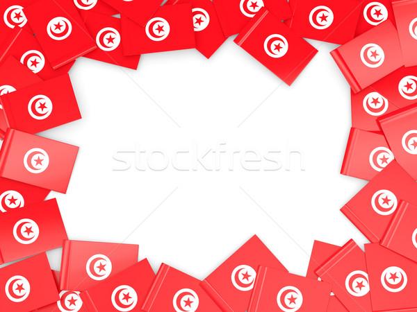 кадр флаг Тунис изолированный белый Сток-фото © MikhailMishchenko