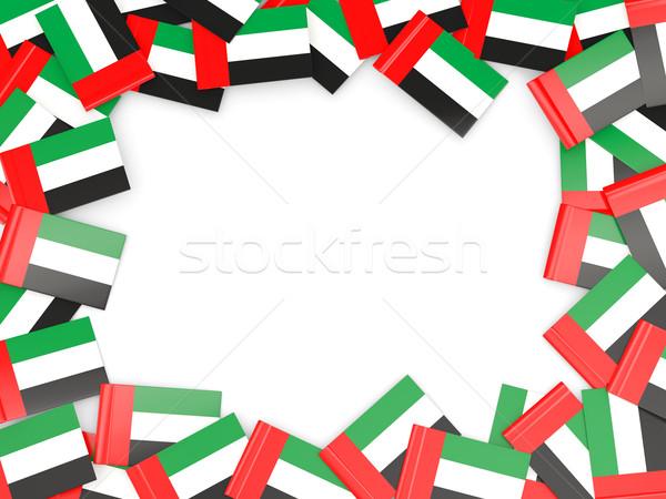 çerçeve bayrak Birleşik Arap Emirlikleri yalıtılmış beyaz Stok fotoğraf © MikhailMishchenko