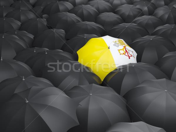 зонтик флаг Ватикан черный путешествия Сток-фото © MikhailMishchenko