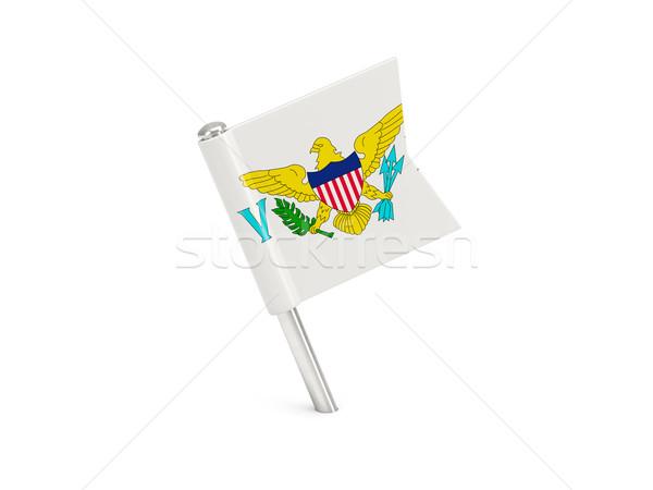 Flag pin of virgin islands us Stock photo © MikhailMishchenko