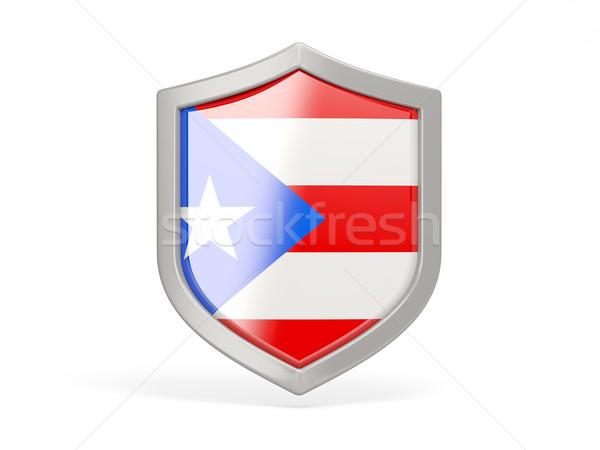 Schild icon vlag Puerto Rico geïsoleerd witte Stockfoto © MikhailMishchenko