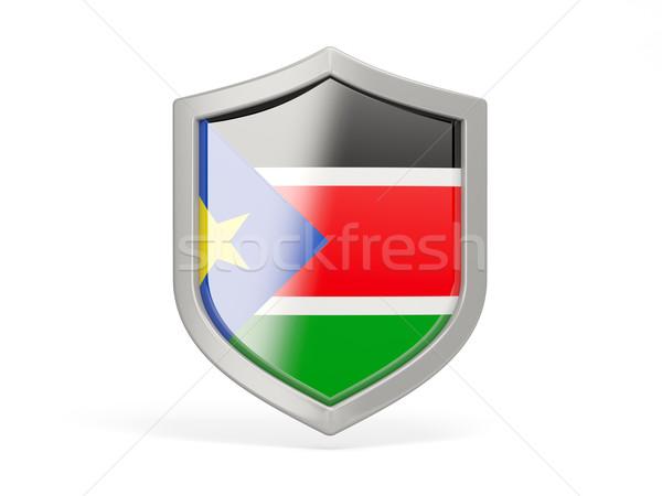 Pajzs ikon zászló dél Szudán izolált Stock fotó © MikhailMishchenko