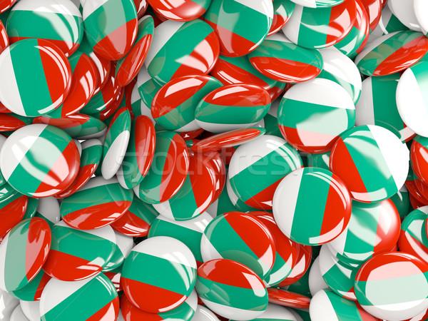 Banderą Bułgaria tle kraju pin kółko Zdjęcia stock © MikhailMishchenko