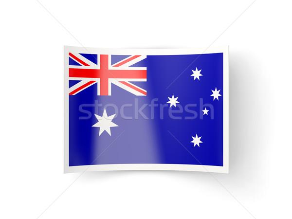 Bent icon with flag of australia Stock photo © MikhailMishchenko