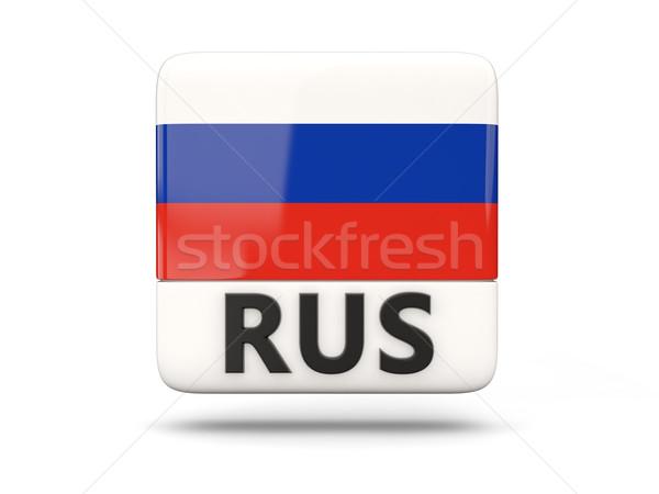 Foto stock: Cuadrados · icono · bandera · Rusia · iso · código