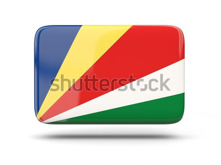 Square icon with flag of seychelles Stock photo © MikhailMishchenko