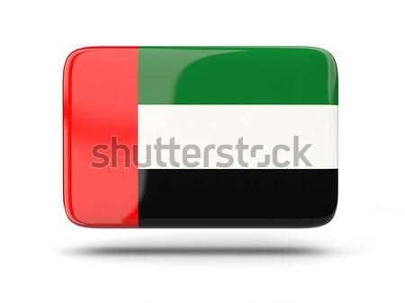 квадратный икона флаг Объединенные Арабские Эмираты тень знак Сток-фото © MikhailMishchenko