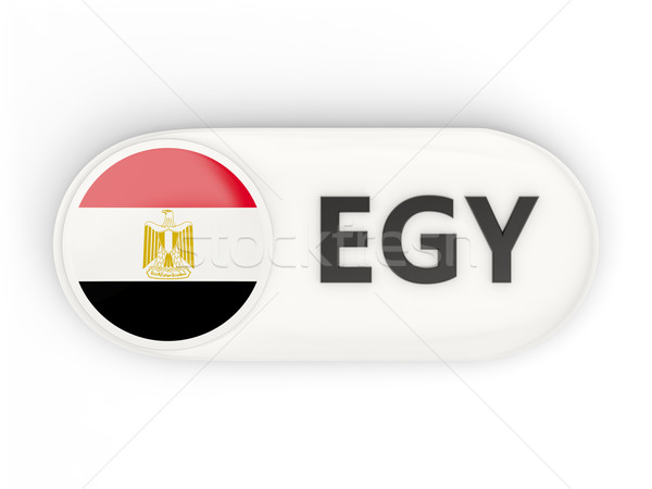 Ikona banderą Egipt iso kodu kraju Zdjęcia stock © MikhailMishchenko